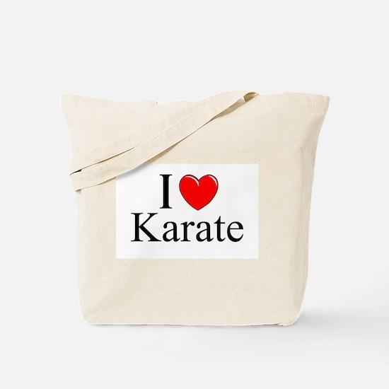 """""""I Love (Heart) Karate"""" Tote Bag"""
