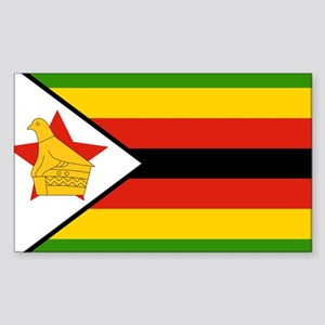 Flag of Zimbabwe Sticker (Rectangle)