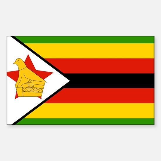 Flag of Zimbabwe Sticker (Rectangle)