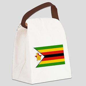 Flag of Zimbabwe Canvas Lunch Bag