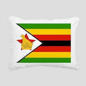 Flag of Zimbabwe Rectangular Canvas Pillow