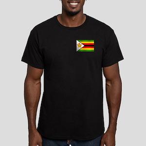 Flag of Zimbabwe Men's Fitted T-Shirt (dark)