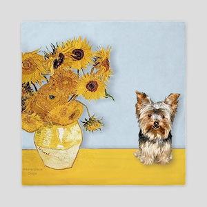T-Sunflowers-Yorkier 17 Queen Duvet
