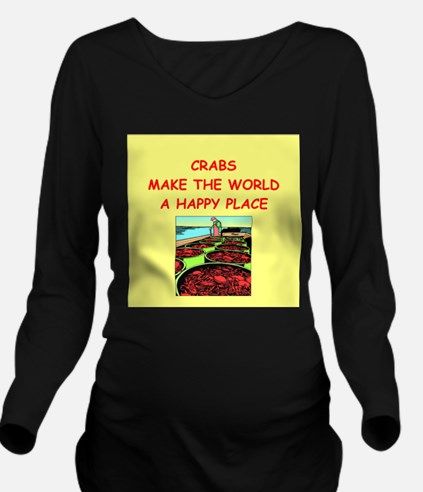 CRABS.png Long Sleeve Maternity T-Shirt