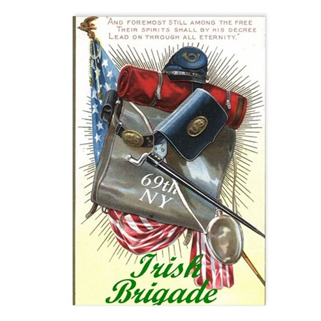 69th NY, Irish Brigade - Postcards (Pk of 8)