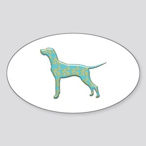 Paisley Vizsla Oval Sticker