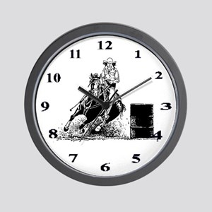 Barrel Racing Wall Clock