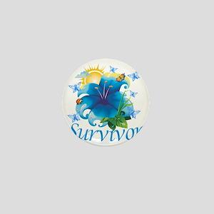 Survivor flower blue Mini Button