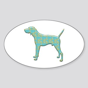 Paisley Walker Oval Sticker
