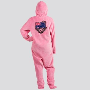 Soccer fans Australia Footed Pajamas