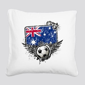 Soccer fans Australia Square Canvas Pillow