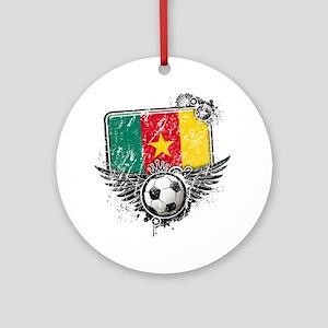Soccer fan Cameroon Round Ornament