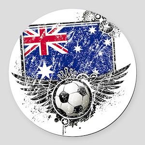Soccer fans Australia Round Car Magnet