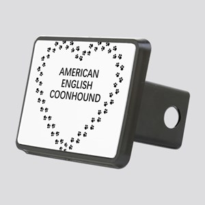 american english coonhound paw heart Hitch Cover