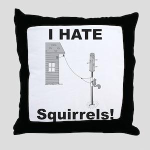 Electrified Birdfeeder Throw Pillow