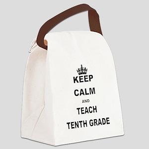 KEEP CALM AND TEACH NINTH GRADE Canvas Lunch Bag