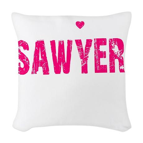 Sawyer Thing pk Woven Throw Pillow