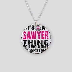 Sawyer Thing Necklace Circle Charm