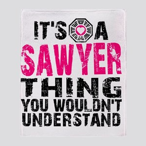 Sawyer Thing Throw Blanket