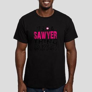 Sawyer Thing Men's Fitted T-Shirt (dark)