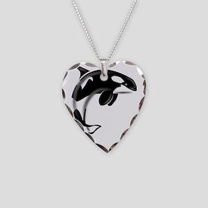 Orca-Dark2 Necklace Heart Charm