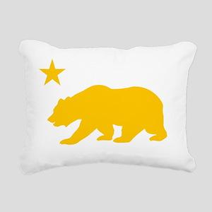California Bear Yellow2 Rectangular Canvas Pillow