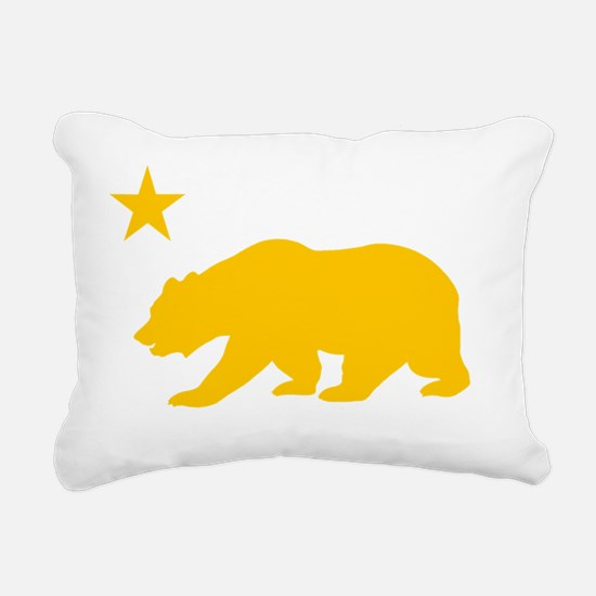 California Bear Yellow2 Rectangular Canvas Pillow