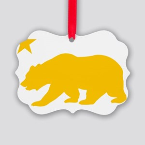 California Bear Yellow2 Picture Ornament