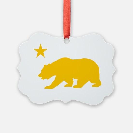 California Bear Yellow2 Ornament
