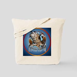 Flying Hawk Dreamcatcher Circle Tote Bag