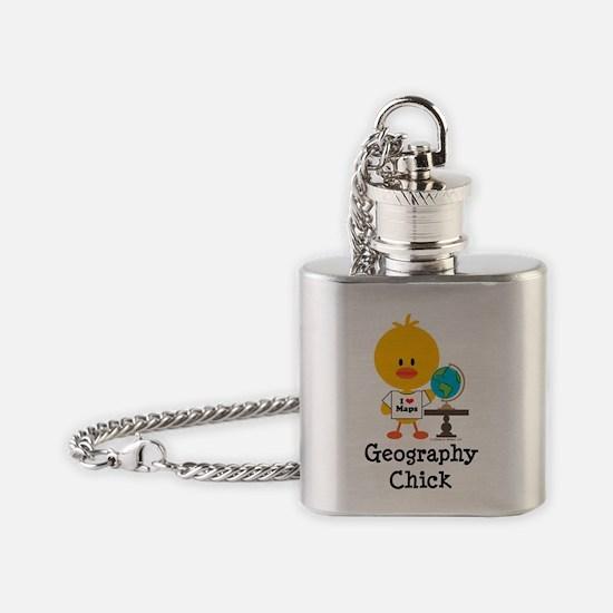 GeographyChick Flask Necklace