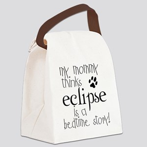2-mommy_bed_ecl_kid Canvas Lunch Bag