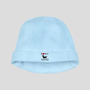 I Love My Dandie Dinmont Terrier baby hat