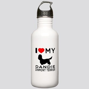 I Love My Dandie Dinmont Terrier Stainless Water B