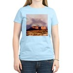 Monument Valley Storm Women's Pink T-Shirt