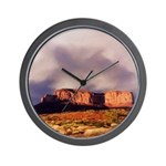 Monument Valley Storm Wall Clock