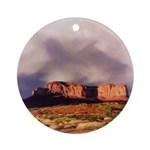 Monument Valley Storm Ornament (Round)