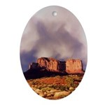 Monument Valley Storm Oval Ornament