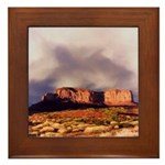 Monument Valley Storm Framed Tile