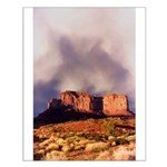 Monument Valley Storm Small Poster