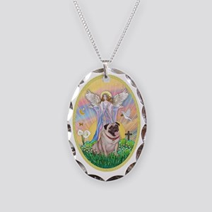 OvOrn--Blessings-Pug #2 Necklace Oval Charm