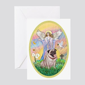 OvOrn--Blessings-Pug #2 Greeting Card