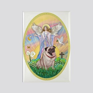 OvOrn--Blessings-Pug #2 Rectangle Magnet