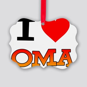 I Love Oma Baby Shirt Picture Ornament