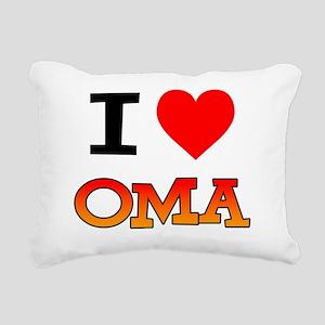 I Love Oma Baby Shirt Rectangular Canvas Pillow