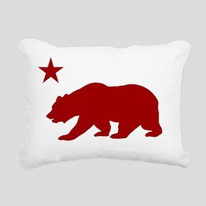 California Bear Red2 Rectangular Canvas Pillow
