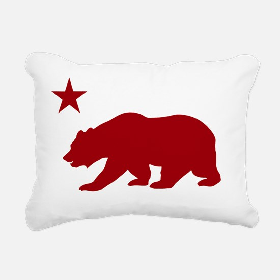California Bear Red2 Rectangular Canvas Pillow