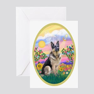 OvOrn-Guardian-German Shepherd Greeting Card