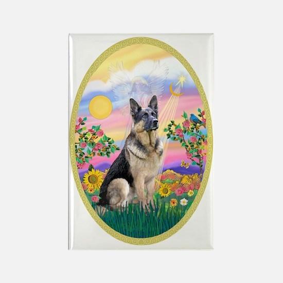 OvOrn-Guardian-German Shepherd Rectangle Magnet