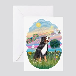 CO-CloudStar-Bernese Mountain Dog Greeting Card
